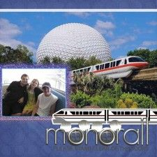 Disney monorail scrapbook pages - Bing Images