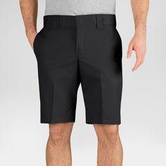 Dickies Men's Slim Fit Flex Twill 11 Short- Black 36