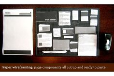paper wireframing -- a really cool way to layout how you want your site to look