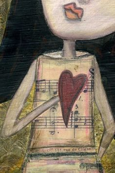 Mixed Media Art Magnet: