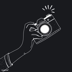 Vector of vintage camera | free image by rawpixel.com Camera Logo, Camera Icon, Camera Wallpaper, Black Phone Wallpaper, Logo Foto, Photo Logo, New Instagram Logo, Camera Cartoon, Black And White Instagram