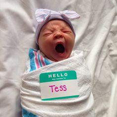 Cool Newborn Name Tag | 10 Precious Baby Announcements - Tinyme Blog