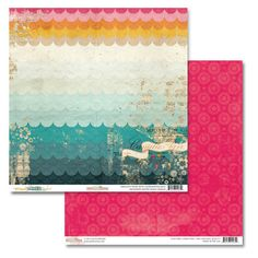 Glitz UNCHARTED WATERS 12x12 Cardstock Sheet - Waves