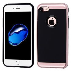 See what's new in our store: iPhone 7/7 Plus R... Check it out here! http://jandjcases.com/products/iphone-7-7-plus-rose-gold-frame-black-leather-texture-hybrid-protector-cover?utm_campaign=social_autopilot&utm_source=pin&utm_medium=pin