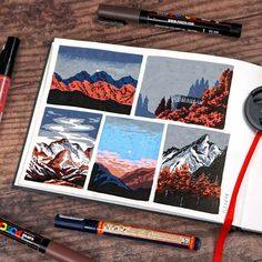 Pen Art, Marker Art, Art Sketches, Art Drawings, Posca Art, Arte Sketchbook, Sketchbook Inspiration, Copics, Art Journal Pages