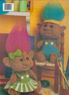 Troll häkeln Muster, alte Muster, Troll Puppe Muster, häkeln Muster, Gehäkeltes Trolle, Amigurumi Häkelanleitung, sofortiger Download, Stofftier von jockspatterns