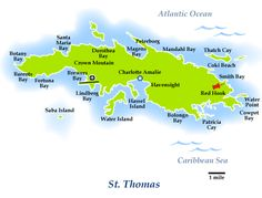 St Thomas Virgin Islands I Would Like To Visit Here Pinterest - Map of st thomas us virgin islands
