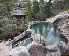 Strawberry Park Hot Springs - Steamboat Springs, CO A beautiful hot spring in the woods with natural outdoor pools, very relaxing!