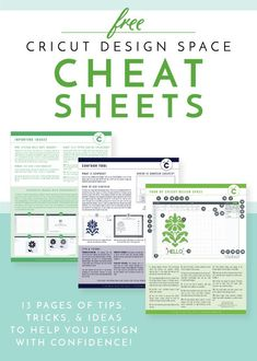 Cricut Design Space and learn how to design and create with confidence with these FREE Cricut Design Space Cheat Sheets!Navigate Cricut Design Space and learn how to design and create with confidence with these FREE Cricut Design Space Cheat Sheets! How To Use Cricut, Cricut Help, Cricut Explore Projects, Cricut Explore Air, Cricut Air 2, Cricut Vinyl, Cricut Mat, Für Dummies, Diy Cutting Board