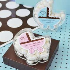 Personalized Baby Carriage Acrylic Favor Box by Beau-coup