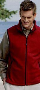 Devon & Jones Wintercept Fleece Vest, soft, breathable fabric and DWR (durable water-repellent) technology that makes rain roll right off! http://www.tucllcpromo.us/apparelvestsknit.htm