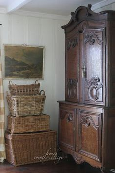 Inspired and romantic living, entertaining, traveling and decorating in a French Country Cottage in the California countryside. French Country Bedrooms, French Country Living Room, French Country Cottage, French Country Style, Country Bathrooms, Country Cottage Bedroom, Country Cottage Interiors, French Country Furniture, Cottage Kitchens