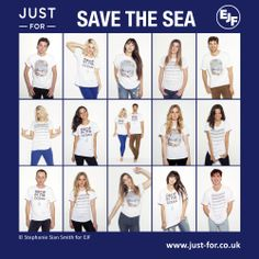 Our amazing ethical and sustainable Save the Sea t-shirt collection available now http://www.just-for.co.uk