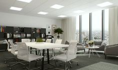 Fittings for commercial facilities and offices LED | QUATTRO SLIM K