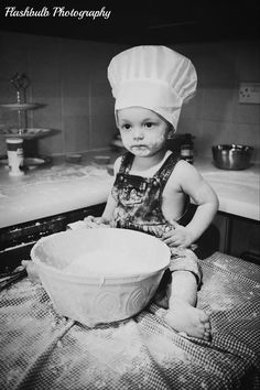 The Great British Baby Baker baby, cook , chef , cake , photoshoot , cute , model , flour , kids