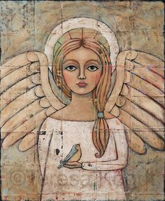 Paintings (Originals) For Sale | Angelic Vision Original Painting by Teresa Kogut | ArtsyHome