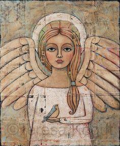 Paintings (Originals) For Sale | Angelic Vision Original Painting by Teresa Kogut | ArtsyHome