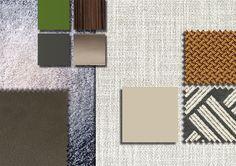 Minotti Ipad - TEXTILE INSPIRATION - EN | INSPIRATION_16 Mood Colors, Colours, Interior Design Presentation, Drawing Interior, Material Board, Colour Board, Fabric Swatches, Colorful Decor, Decoration