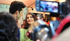 Aishwarya Rai Bachchan and Abhishek Bachchan in Vancouver for the TOIFA Times of India Film Awards Red Carpet.