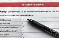 Vorsorgevollmacht – Information und praktischer Teil- 03.10.2017