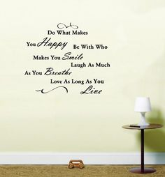 Do What Makes you Happy Quote Vinyl Wall Art Sticker Decal - Large by Lightning Signs, http://www.amazon.co.uk/dp/B007GK3LN0/ref=cm_sw_r_pi_dp_L-lfrb0RFHR7K