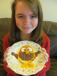 Baby owl pancake!