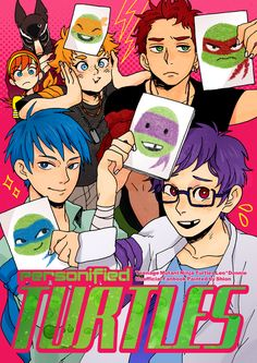 Disney & Cartoon In Anime Anime Vs Cartoon, Cartoon Shows, Cartoon Art, All Anime, Teenage Ninja Turtles, Ninja Turtles Art, Tmnt 2012, Cartoon Characters As Humans, Anime Characters
