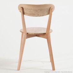 Chaise de cuisine en chêne Iconic (Lot de 2)