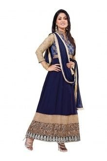 Akshra Bucolic Blue Georgette Anarkali Suit