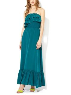 Tucker Silk Ruffle Maxi Dress from Jay Godfrey on Gilt