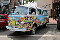 super swirly colourful love and hope 1979 Volkswagen