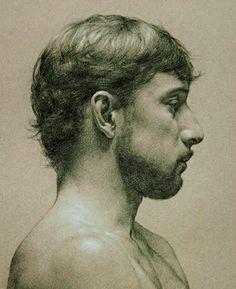 Profile - Oscar Mendoza.  Anthony J. Ryder. American. drawing.