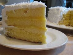 coconut lemon cake- had this for the first time the other day. Soooo yummy!