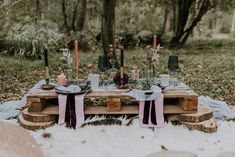 Tablescape with Candle Sticks & Flower stems in Bottles | Styling by The White Emporium | Woodland Bohemian Luxe Inspiration | Lola Rose Photography & Film