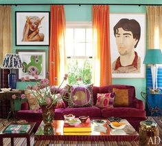 color + crazy awesome art INTERIORS TO INSPIRE :: A TEXILE HEAVEN | coco kelley