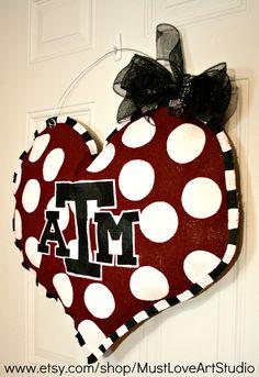 Texas A & M Aggies School Spirit College Team by MustLoveArtStudio