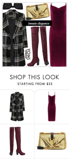 """""""Yoins"""" by teoecar on Polyvore featuring Yves Saint Laurent, Delalle and Victoria Beckham"""