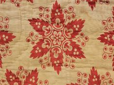 French block printed textile ~ c1810 ~ possibly Swiss design ~
