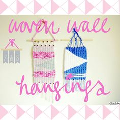 Woven Wall Hangings - Create 28 – I Did It! at www.elistonbutton.com - Eliston Button - That Crafty Kid