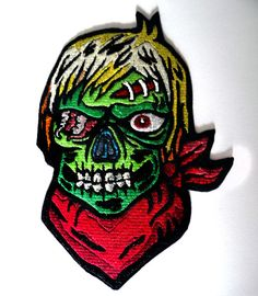 Zombie Iron On Patch - Punk, Goth, Rockabilly, Psychobilly - Poofhawk