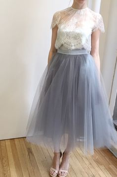 Love the color of the skirt!