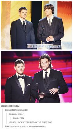 "While Jared is like, ""helloooo people. Bow to the majestic moose!"""