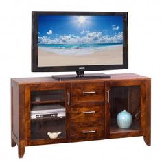 "Amish Kensington Park 60"" TV Stand Create the look for your new Kensington with choice of wood, finish and hardware.Amish made in America."