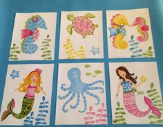 Love the seahorses and turtles. Mermaid girls nursery art seahorse bedding by theprincessandpea, $32.00