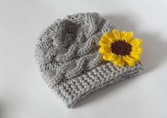 Baby knit cable Hat Baby Girl Hat Newborn Hat by IfonBabyLand