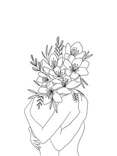 Love for Flowers Art Print by Brooklyn - X-Small