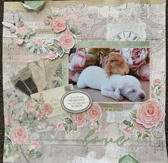 Dog Scrapbook, Scrapbook Pages, Scrapbook Layouts, Scrapbooking, Bullet Journel, Vintage World Maps, Teddy Bear, In This Moment, Pets