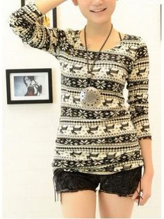 Aztec Long Knit Sweater