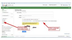 Working with Google to get the very best keyword candidates, then cleaning up the list with Google operators.