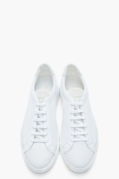 COMMON PROJECTS White Microperforated Leather Summer Sneakers